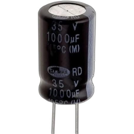 55064 - Condensator electrolitic, radial, 33μF/25V